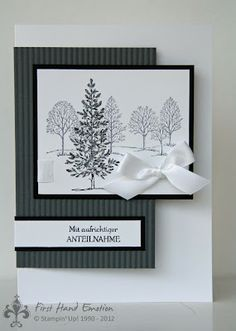 handmade card ... Lovely as a Tree ... black and white ... modern design ... Stampin' Up!