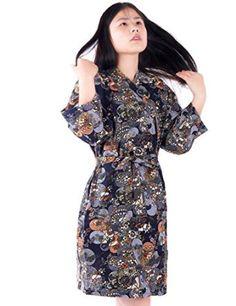 Find Dress Women's Knee-length Navy Kimono Bride Robe