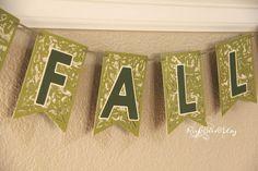 Fall Pennant Banner