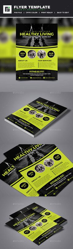 Fitness Flyer Template PSD. Download here: http://graphicriver.net/item/fitness-flyer/16021763?ref=ksioks