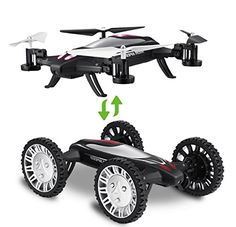 HiTech 24GHz 6Axis RC Car Flying Drone with Car Mode Fly Mode Headless Mode 3D Flip ** For more information, visit image link. Note: It's an affiliate link to Amazon
