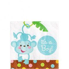Monkey Baby Shower Napkins