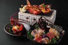 fish,lobster, luxurious dinner
