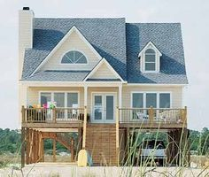Beach House Plans at Dream Home Source | Beautiful Beach Front Homes