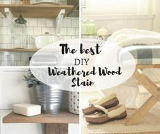 The best and easiest DIY weathered wood stain ever! You have to try this out, especially if you love the farmhouse style, its the perfect compliment! Refurbished Furniture, Repurposed Furniture, Furniture Makeover, Diy Furniture, Furniture Refinishing, Painting Furniture, Furniture Design, Antique Woodworking Tools, Woodworking Projects
