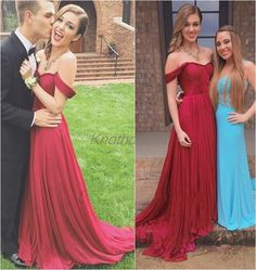 Sweetheart Ruched Off shoulder Long Burgundy Prom dresses with chapel Train  This dress can be custom made, both size and color can be custom made. Custom size and color made will charge for no extra. If you need a custom dress, please send us messages for your detail requirements.  For custo...