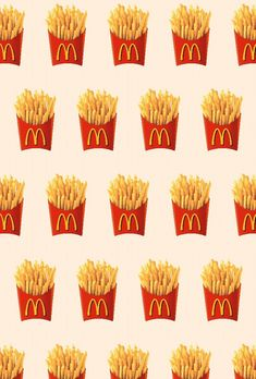 Imagem de background, food, and mc donalds - textures & backgrounds - Cute Wallpaper Backgrounds, Cute Wallpapers, Iphone Wallpaper, Mc Donald Logo, Background S, Textured Background, Mcdonalds Recipes, Mcdonalds Fries, Disney Drawings
