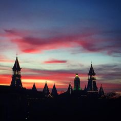 December sunset at Baylor University