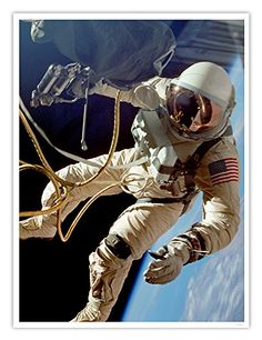 NASA First Spacewalk Ed White Gemini 4 Historic Photo Poster Handmade Gallery Art Print Astronauts In Space, Nasa Astronauts, Nasa Iss, Project Gemini, Soyuz Spacecraft, Indian Space Research Organisation, Space Shuttle Challenger, American Space, Poster Store