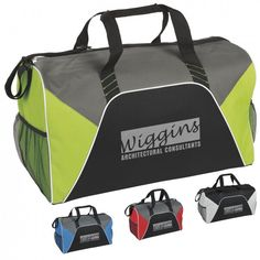 94213e53aa Color Panel Sport Duffel- Customize this durable duffle bag with your gym  or company logo