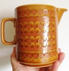 Hornsea pottery large MILK JUG in the  Saffron by 20thCenturyStuff