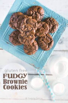 It might look like a cookie, but one bite and you will swoon for theseGluten-Free Fudgy Brownie Cookies!