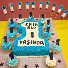 1 Yaş Bebek Pasta ve Cupcake Seti - Melek Anne Pasta Anne, Catering, Cupcake, Birthday Cake, Pasta, Desserts, Food, Tailgate Desserts, Deserts
