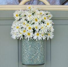Spring Wreath - Summer Wreath - Mothers Day Wreath - Daisy Wreath