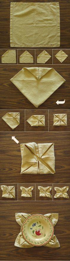 Waterlily Napkin fold