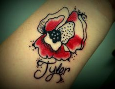Poppy Tattoo without the name
