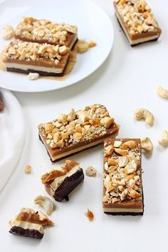 Raw snickers layer bars