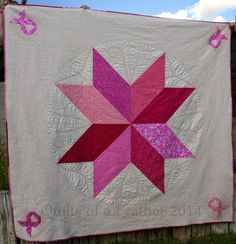Quilts of a Feather: Blogger's Quilt Festival: Big Pink Star
