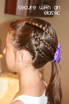 Hair Today: Triple Braid to a Side Ponytail