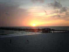 sunset over the pier @ Redington Shores