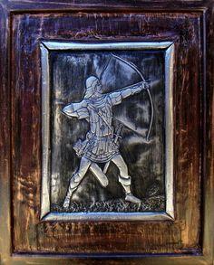 Arqueiro Medieval - Arte medieval feita em alumínio.