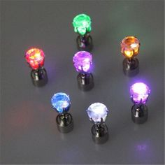 1 Pc Cool Fashion Light Up LED Bling Earrings Ear Studs Dance Party Accessories Blinking