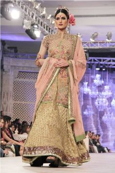 Fahad Hussain New Bridal Collection of 4th loreal Paris 2014
