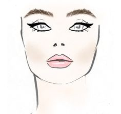 Boceto de maquillaje de Hoffman para el Mercedes Benz Fashion Week. #MBFW 2013