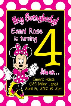 #MinnieMouse #Birthday #PinkInkBoutique #Invitations