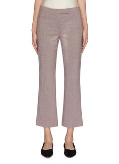 THEORY Cropped flare pants. #theory #cloth