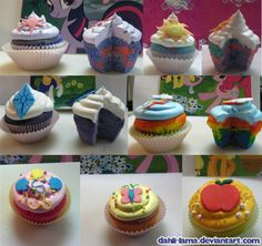 My Little Pony: Friendship is Magic cupcakes -- maybe Jess and I should make some over Christmas
