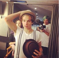 Brad is so cute with hats!!