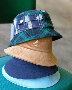 Now Trending - Bucket Hats Shop Kangol Buckets Hat Shop, Mens Caps, Hat Making, Headgear, Buckets, Timeless Fashion, Bucket Hat, Fashion Accessories, Presents