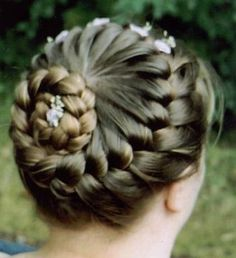 might do this for dance! my hair always falls out of regular buns...