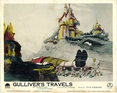 Original  movie poster for GULLIVER'S TRAVELS (1939) 9394 Original British Front-Of-House Lithographic Still (8x10). Very Fine Condition. Hand Tinted. Offered by Kirby McDaniel MovieArt of Austin, Texas.