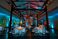 Awesome #blue #uplighting for this #wedding #reception! #diy #rentmywedding #inspiration #ideas