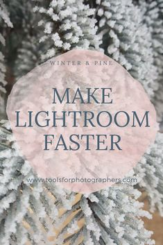 A step-by-step tutorial for making Lightroom run f…