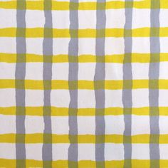 Thinking this for a mid length skirt... Paper Cutting Check - Yellow and Grey