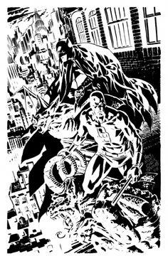 Daredevil & Batman by Chris Samnee #comics #art