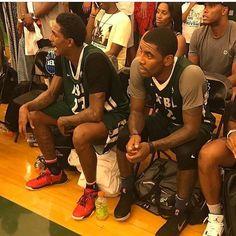 #louwilliams #kyrieirving regram @louwillville We got benched yesterday lol. @kyrieirving http://ift.tt/2g00Azu