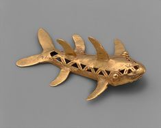 COSTA RICA | Shark Pendant, 11th–16th century. Costa Rica or Panama, Burica Peninsula. The Metropolitan Museum of Art, New York. The Michael C. Rockefeller Memorial Collection, Bequest of Nelson A. Rockefeller, 1979 (1979.206.1054) #WorldCup