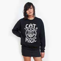 Cat Magic Black sweatshirt UNISEX sizes S M L XL