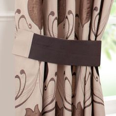 Chocolate Lalique Collection Tiebacks | Dunelm Mill