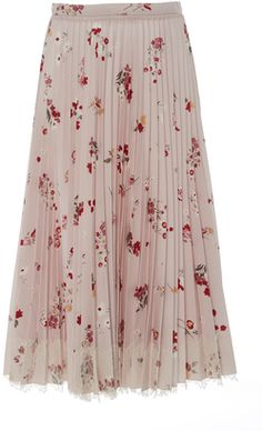 This darling midi by **Red Valentino** features red florals casted on a powder pink body. Finished with a lace hem for added softness a solid shoe is all that is necessary to complete your look. Long Skirt Fashion, Modest Fashion, Fashion Outfits, Floral Fashion, Modest Outfits, Skirt Outfits, Stylish Outfits, Muslim Women Fashion, Womens Fashion