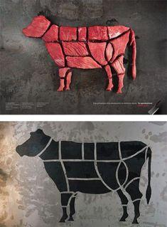 Fashion Show Logo Design Galleries 22 Ideas - Meat Meat Restaurant, Restaurant Identity, Restaurant Logo Design, Grid Design, Design Art, Graphic Design, Carnicerias Ideas, Shop Ideas, Steak Shop