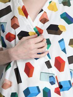 Dress Print Geometric Colorful Shapes