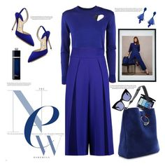 """""""Royal blue"""" by naki14 ❤ liked on Polyvore featuring Proenza Schouler, Manolo Blahnik, Christian Dior, J.W. Anderson, Oscar de la Renta, Milly, Conran, Pared, Blue and TotalLook"""
