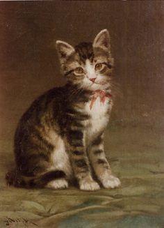 Brown Tabby Kitten -- by John Henry Dolph (American, 1835–1903)