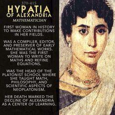 Hypatia of Alexandria.