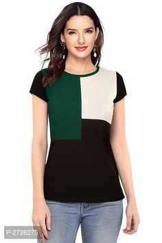 Imported Women's Knitted Round Neck Top from The value store Casual Tops For Women, Trendy Tops, Blouses For Women, T Shirts For Women, Tee Shirt Designs, Beautiful Outfits, Fashion Outfits, Clothes, Cap Sleeves